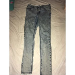 Pacsun acid wash skinny jeans (size 5)